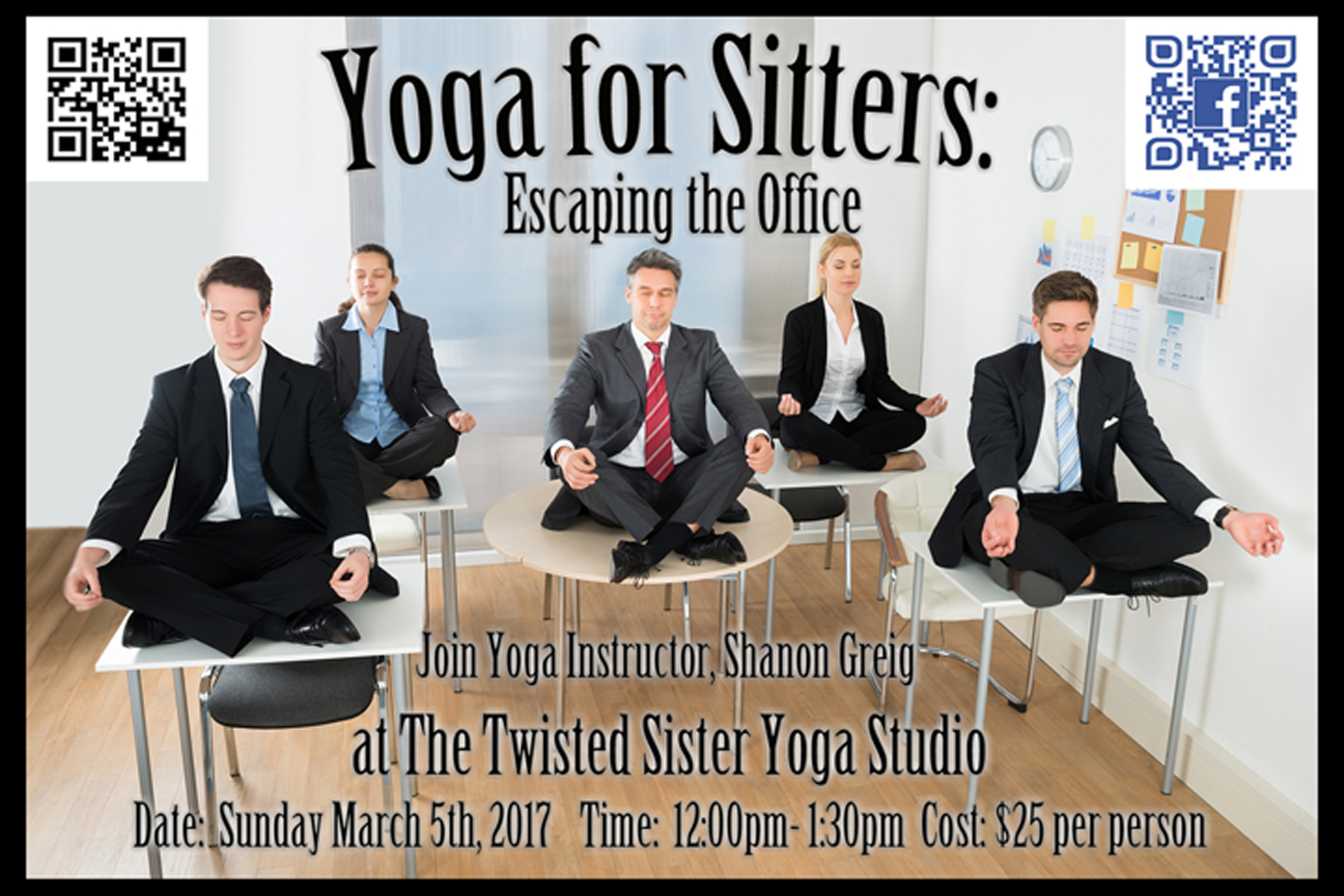 Workshop at The Twisted Sister Yoga Studio in Kernersville, NC.